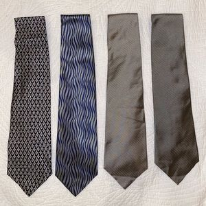 Claiborne and Van Heusen Men's Silk Ties, lot of 4